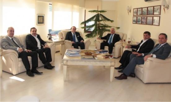 Kocaeli Sanayi Odası ile Bolu Ticaret ve Sanayi Odası Başkanları Odamıza ziyarette bulundu.
