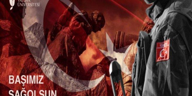 Rektör Alkan'dan Afrin Şehitlerine Taziye Mesajı