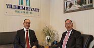 Yıldırım Beyazıt Üniversitesi Rektörü Prof.Dr.Metin DOĞAN'a Ziyaret