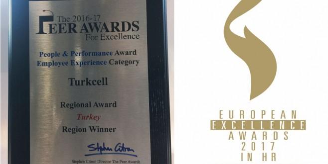Turkcell İnsan Kaynakları'na Avrupa'dan iki ayrı mükemmeliyet ödülü